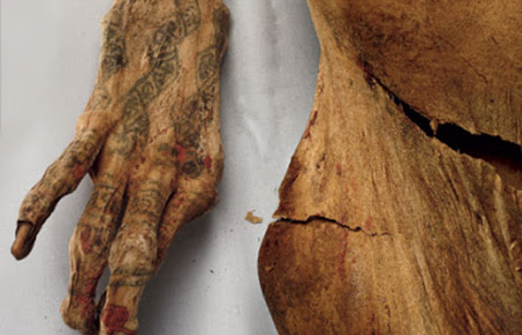 Inked linked tracing the evolution of tattoos b for Egyptian mummy tattoos