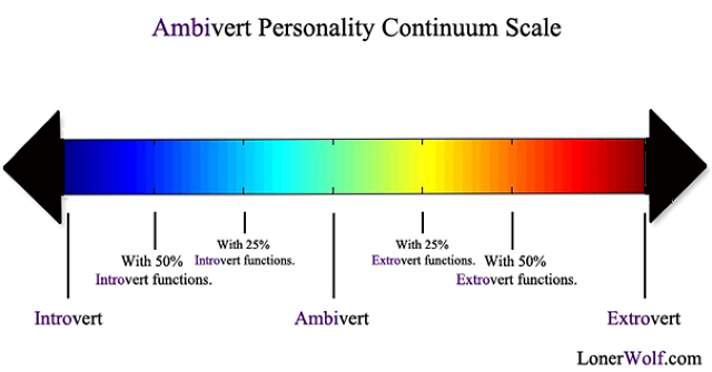 Ambivert Personality Scale Continuum