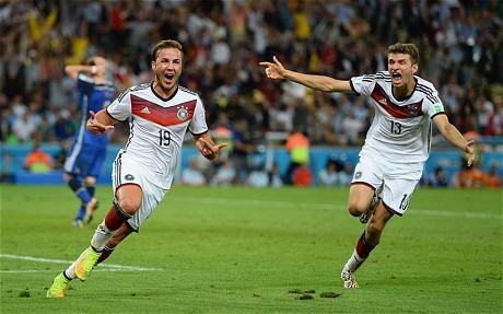 GRANTING REDEMPTION. MARIO GOETZE SCORES THE WINNING GOAL VS ARGENTINA IN ET, 2014 FINAL