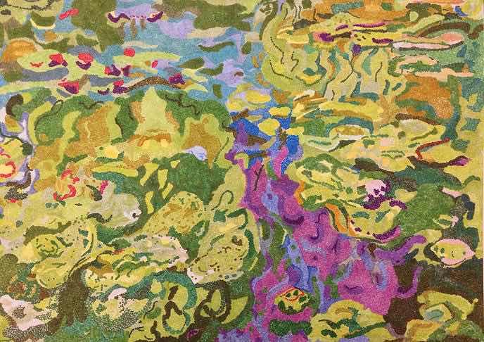 Re-worked Le Bassin Aux Nympheas series- Claude Monet, 1919. Artist: Nourah Abdullah
