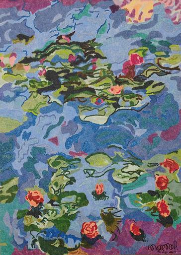 Re-worked Le Bassin Aux Nympheas series- Claude Monet 1919. Artist: Nourah Abdullah