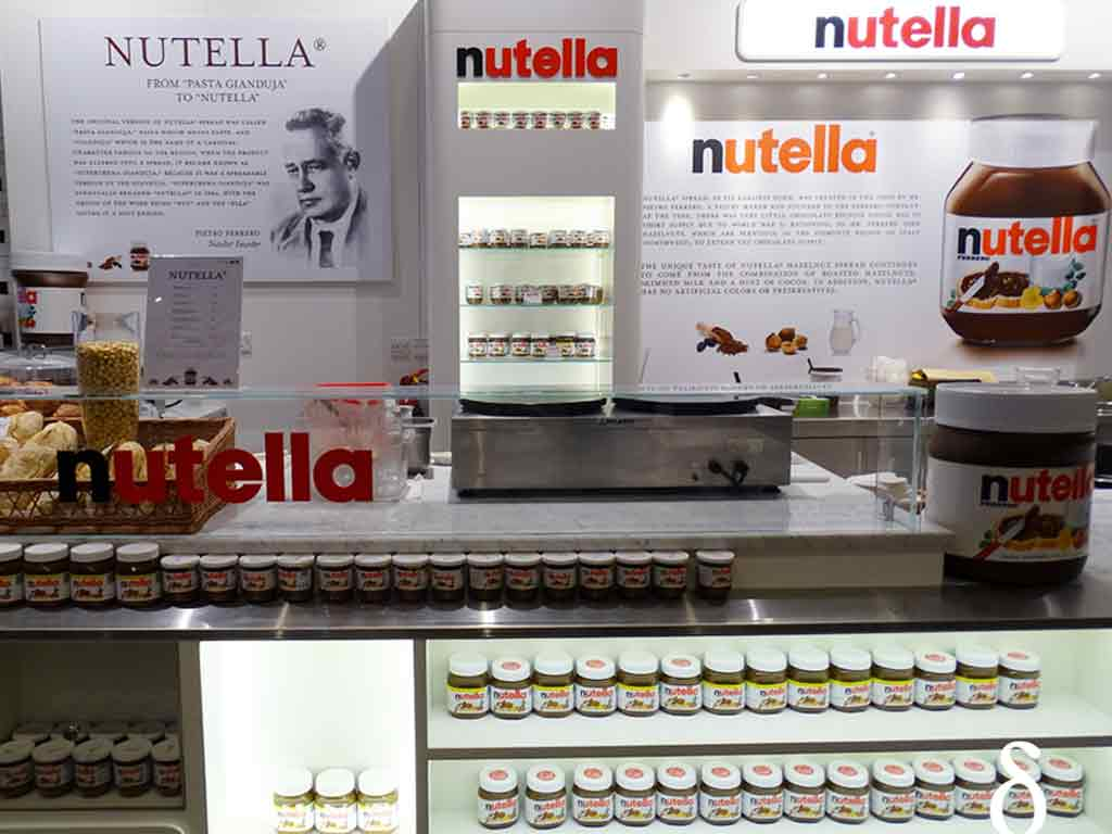 There are variety of things you can treat your taste buds to at the Nutella Bar in the Eataly.