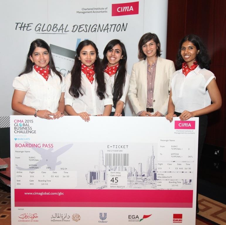 CIMA 2015 Global Business Challenge -Middlesex University winners - Team Revenution