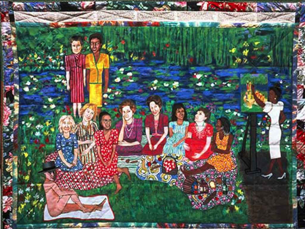 El picnic en Giverny por Faith Ringgold