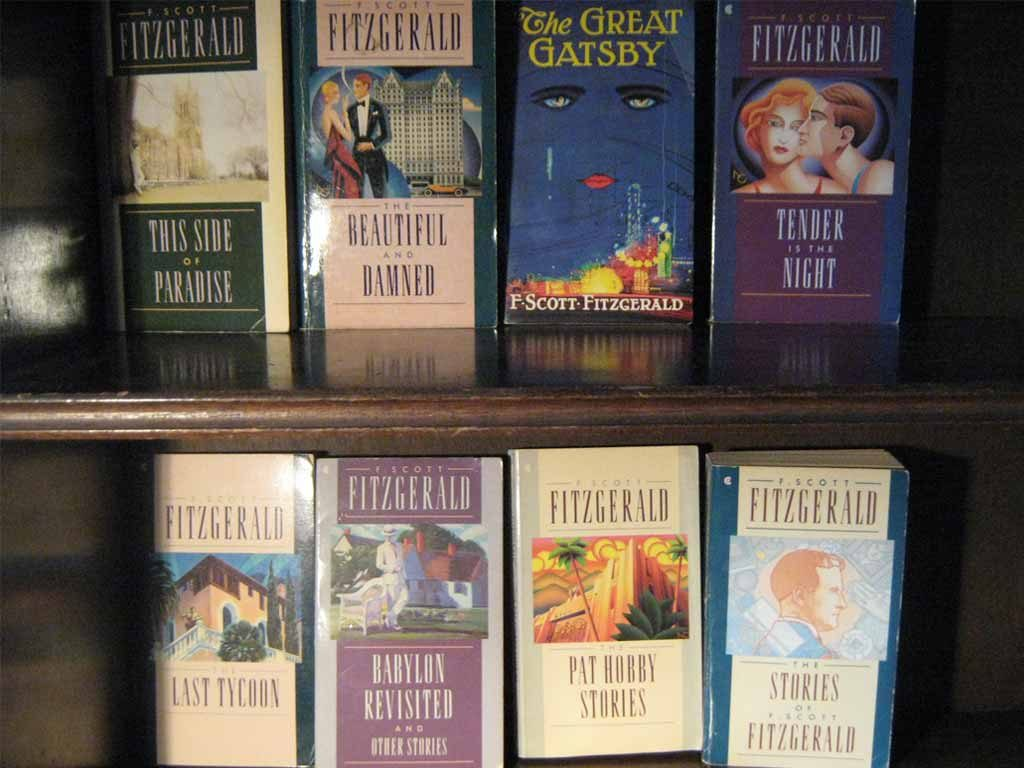 The covers of Fitzgerald's works.