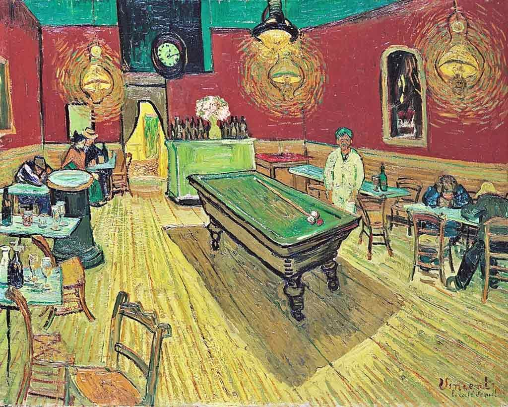 The Night Cafe by Van Gogh. One of the most often re-told story of tragedy and genius.