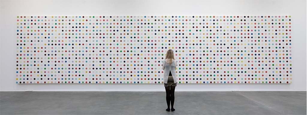 You can stare at Hirst's dots all day long and never figure out what went through his mind.