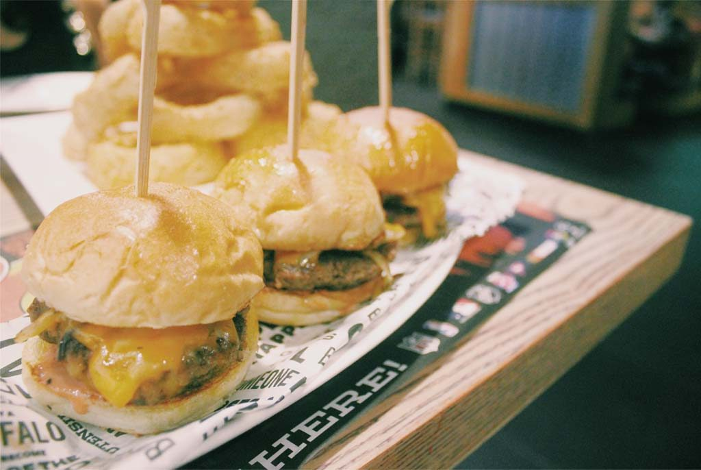 'Cause which sports bar is complete without sliders?