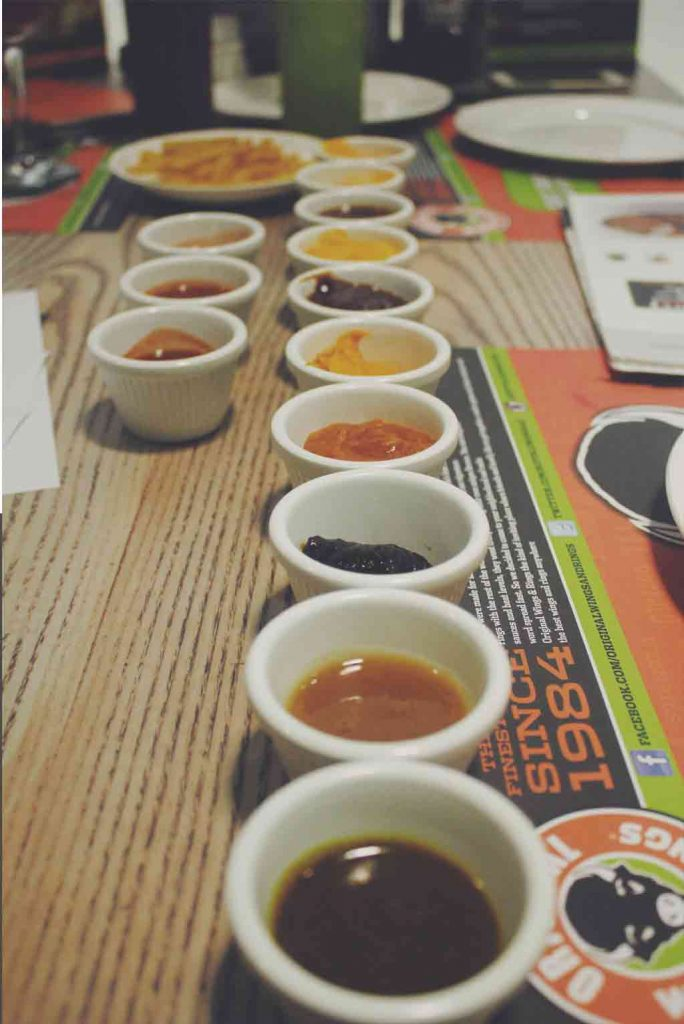 So many sauces.